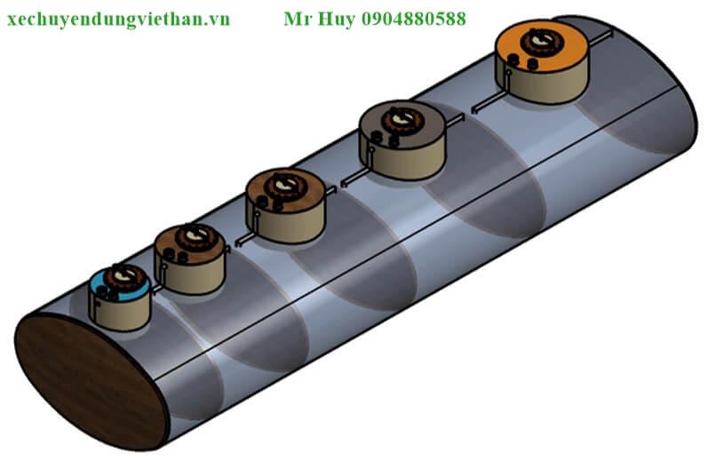 kết cấu e xi téc chở xăng dầu 22 khối Hyundai