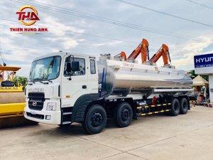 Xe chở xăng dầu 24 khối Hyundai HD320 (Téc nhôm)