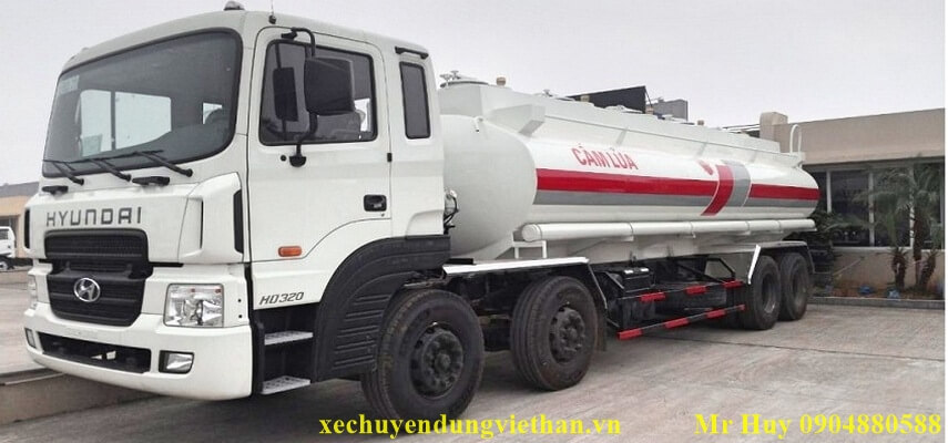 Xe xi téc chở xăng dầu 22 khối Hyundai HD320